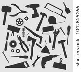 home repair tools vector... | Shutterstock .eps vector #1042859266