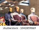 arrangement of crashtest dummys ... | Shutterstock . vector #1042859869