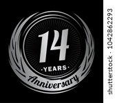 14 years anniversary.... | Shutterstock .eps vector #1042862293