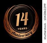 14 years anniversary.... | Shutterstock .eps vector #1042862299