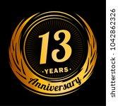 13 years anniversary.... | Shutterstock .eps vector #1042862326