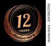 12 years anniversary....   Shutterstock .eps vector #1042862356