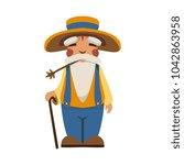 the old man flat vector | Shutterstock .eps vector #1042863958