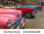 Vintage Cars At Parque Central...
