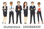 business team set   Shutterstock .eps vector #1042868320