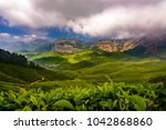 valley in kulukumalai in munnar ... | Shutterstock . vector #1042868860