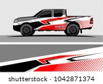 truck graphic background kit... | Shutterstock .eps vector #1042871374