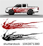 truck graphic background kit... | Shutterstock .eps vector #1042871380