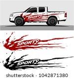 truck graphic background kit... | Shutterstock .eps vector #1042871380