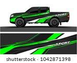 truck graphic background kit... | Shutterstock .eps vector #1042871398