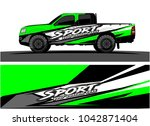 truck graphic background kit... | Shutterstock .eps vector #1042871404