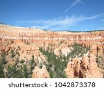 Small photo of Scattered pine trees inside the Valley on a trail in Bryce Canyon National Park, Utah, USA
