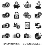 cryptocurrency and mining icon... | Shutterstock .eps vector #1042880668