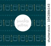 repeating seamless pattern of... | Shutterstock .eps vector #1042886143
