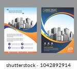 blue cover  brochure  layout ... | Shutterstock .eps vector #1042892914