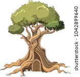 illustration of majestic tree... | Shutterstock .eps vector #1042899640