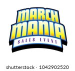 march mania sales event yellow... | Shutterstock .eps vector #1042902520