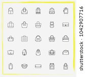 bags line icon set purse ... | Shutterstock .eps vector #1042907716