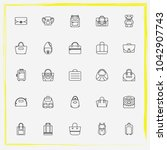 bags line icon set clutch ...   Shutterstock .eps vector #1042907743