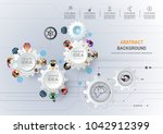 business meeting and... | Shutterstock .eps vector #1042912399