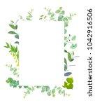 square botanical vector design... | Shutterstock .eps vector #1042916506