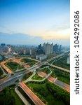 modern city  a busy overpass | Shutterstock . vector #104292086