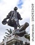 Memorial to Ferdinand Magellan in thw town of Punta Arenas, Chile