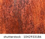 old grungy and dirty red rusty... | Shutterstock . vector #1042933186