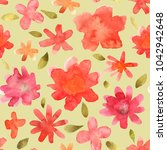 seamless floral pattern with... | Shutterstock . vector #1042942648