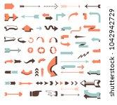 huge vector arrow set   70... | Shutterstock .eps vector #1042942729