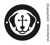 Anchor And Dog Vector Logo. Se...