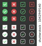 tick and cross icons  check box ... | Shutterstock .eps vector #1042949140