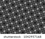 ornament with elements of black ...   Shutterstock . vector #1042957168