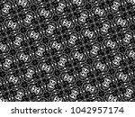 ornament with elements of black ...   Shutterstock . vector #1042957174