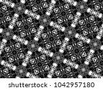 ornament with elements of black ...   Shutterstock . vector #1042957180