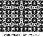 ornament with elements of black ...   Shutterstock . vector #1042957210