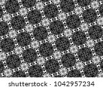 ornament with elements of black ...   Shutterstock . vector #1042957234