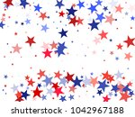 american independence day stars ...   Shutterstock .eps vector #1042967188