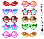 vector illustration sunglasses... | Shutterstock .eps vector #104296754
