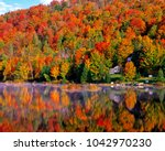 Small photo of autumn landscape in laurentian mountains