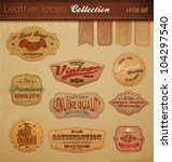 leather labels collection.... | Shutterstock .eps vector #104297540