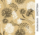 seamless pattern with flowers.... | Shutterstock .eps vector #104297864