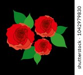 red roses  there are over a... | Shutterstock . vector #1042979830