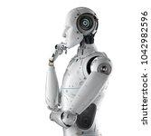3d Rendering Humanoid Robot...