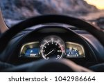 view from the car inside.... | Shutterstock . vector #1042986664