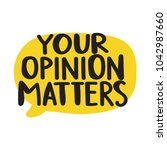 your opinion matters. vector... | Shutterstock .eps vector #1042987660