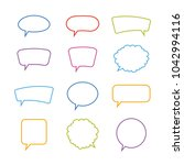 speech bubbles. vector... | Shutterstock .eps vector #1042994116