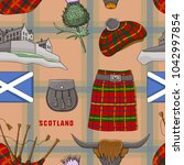 scotland country set icons... | Shutterstock .eps vector #1042997854