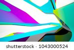 abstract white and colored... | Shutterstock . vector #1043000524
