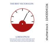 tachometer vector icon eps 10.... | Shutterstock .eps vector #1043004136